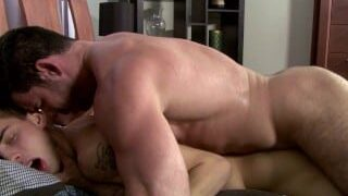 Hairy dad fucking step son